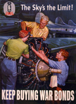 Riveters Working on a Plane Engine
