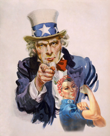 Free Photo: Uncle Sam and Rosie the Riveter