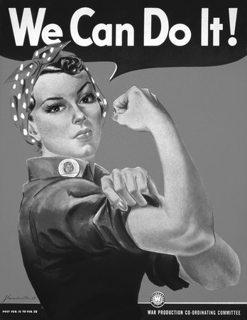 Free Photo: We Can Do It! Rosie the Riveter in Black and White